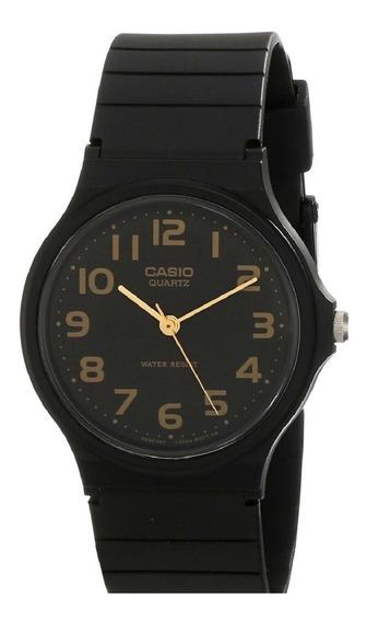 Relógio Feminino Casio Preto Dourado Retro Quartz Classic