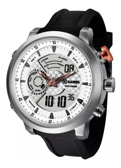 Relógio X-games Analógico Digital Xmspa016 S2px Aço Prata