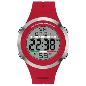Relógio Scuderia Ferrari Masculino Borracha Vermelha