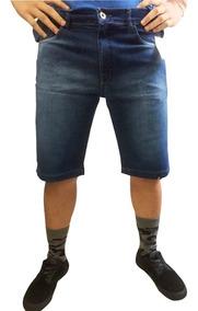 Kit 04 Shorts Masculino Jeans E Colorido Rasgado Liso Lycra