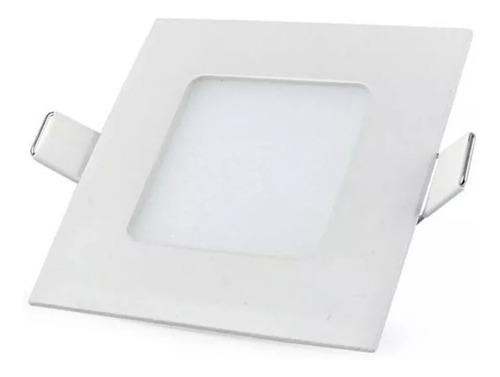 Panel Led 6w Embutir Plafon Cuadrado Blanco Spot Frio Calido