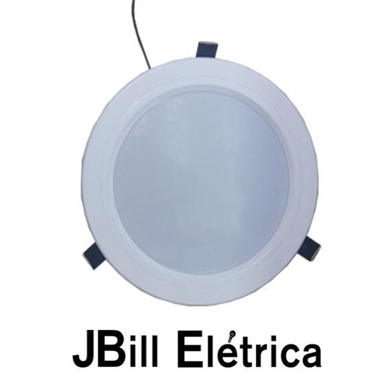 Luminaria Spot Led 16w Embutir 19,5cm Branco Quente Kit 3pçs