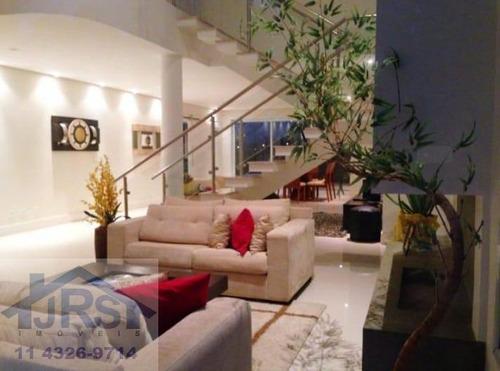 Condomínio Burle Marx Sobrado Com 4 Dormitórios À Venda, 441 M² Por R$ 2.800.000 - Burle Marx - Santana De Parnaíba/sp - So0009