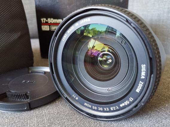 Lente Sigma 17-50mm 2.8 Ex Dc Os Seminova (canon)