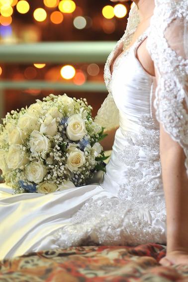 Vestido De Noiva Em Seda