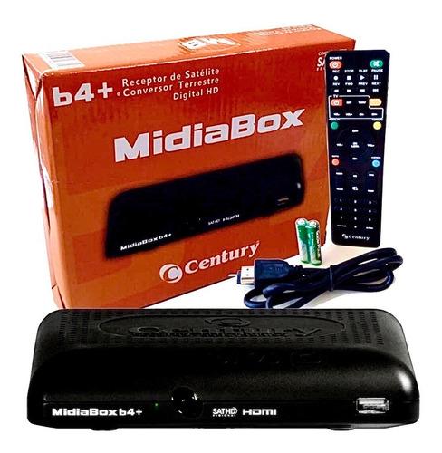 Receptor Midiabox B4+ Conversor Digital Century Sat Hdtv