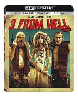 3 From Hell Blu-ray 4 K Ultra Hd + Blu-ray Import Nuevo