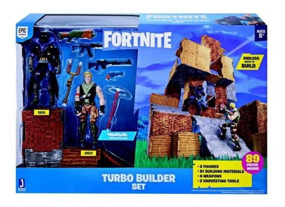 Fortnite Pack Com 2 Figuras E Acessórios 2060 Turbo Builder