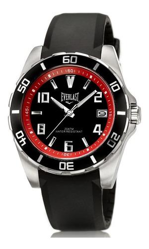 Relógio Pulso Everlast Masculino Silicone Calendário E288