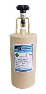 Cilindro Garrafa Para Transporte De Fluido Refrigerante 1 Kg