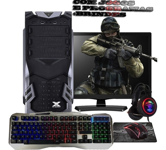 Pc Gamer Barato Completo Com Tela / Quad-core / Geforce