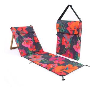 Reposera Plegable Chilly Diseño Hibiscus