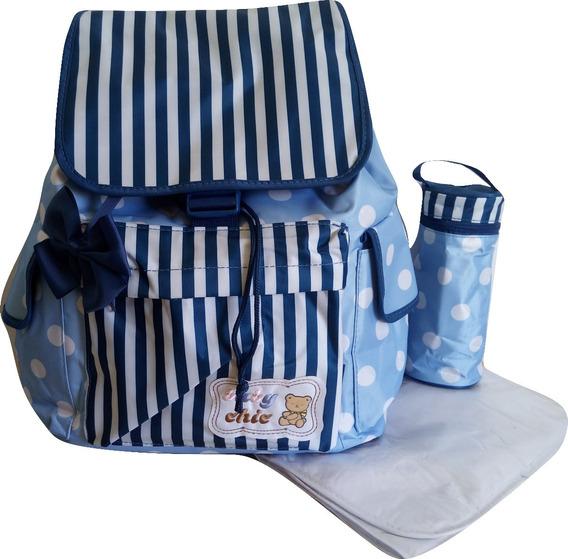 Mochila Bolsa Bebe Maternidade Menino Menina Azul