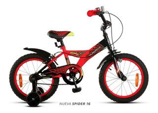Bicicleta Niño Aurora Spider Rodado 16 A Partir De 4 Años
