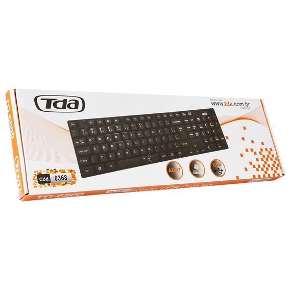 Teclado Usb Basico Preto Slim Td-6800 Tda