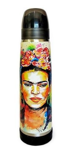 Termo Acero Inoxidable Lumilagro Luminox 1 Litro Frida Kahlo