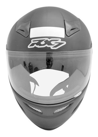 Capacete Motoqueiro Moto Rx7 Solid Preto Fosco 60 +brinde