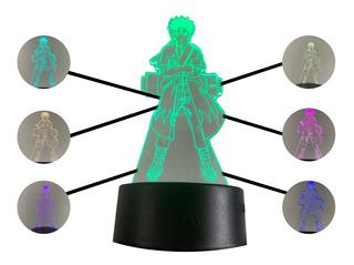 Lampara Led 7 Colores Naruto Modo Sennin 3d Baterías O Luz