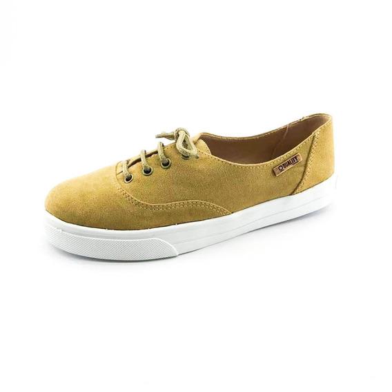 Tênis Quality Shoes Feminino 005 Camurça Caramelo