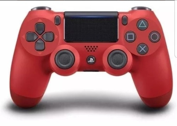 Controle Ps4 Dualshock 4 Red Jetblack Original Sony