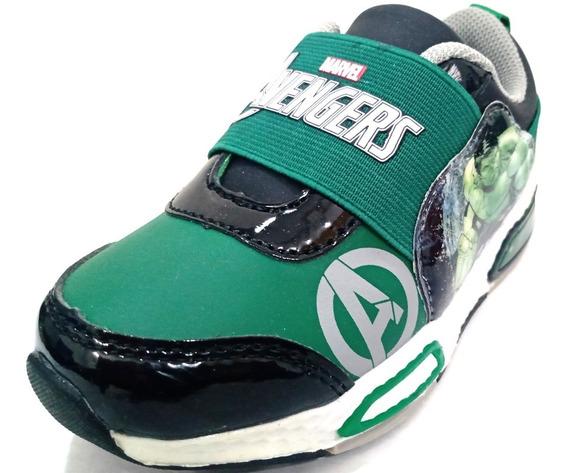 Zapatillas Deportivas Marvel Elástico Hulk