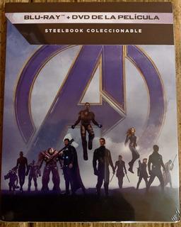 Avengers Bluray Y Dvd Steelbook Nueva
