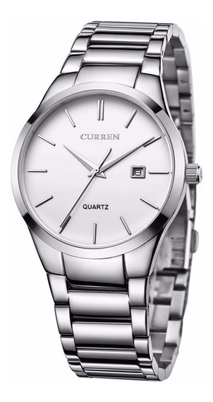 Curren 8106 Relógio De Pulso De Quartzo Branco