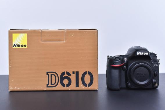 Câmera Nikon D610 (só O Corpo) Obturador Novo