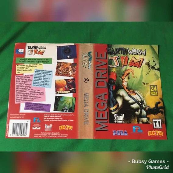 Encarte Mega Drive Tectoy Original ( Earthworm Jim...)