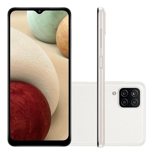 Celular Smartphone Samsung Galaxy A12 A125m 64gb Branco - Dual Chip