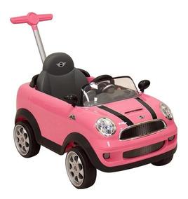 Montable Push Car Mini Cooper Rosa