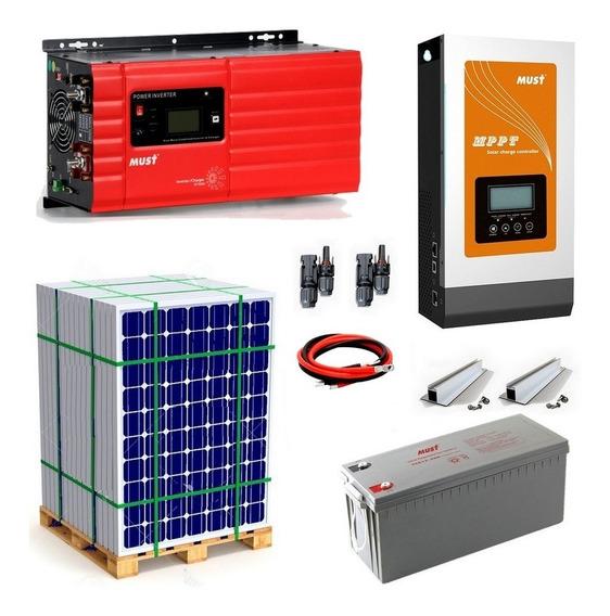 Must Kit Solar Apto Aire Acondicionado - Generación Día 10.900 W - Motores Hasta 2hp E30-9