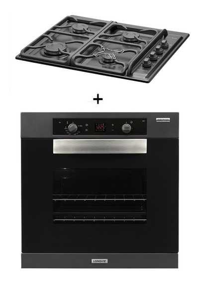 Combo61 Gas Longvie Horno H6900g + Anafe A6600gf