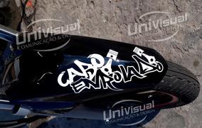 2 Adesivos Cabo Enrolado Frete Grátis 10cmx22cm Motos Carro