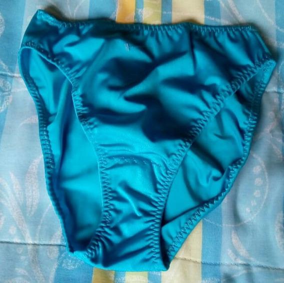 Set 6 Pantaleta Bikini Satinada Med-gde O Extgd Dif.colores
