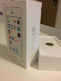 Caixa Original iPhone Apple 5s Silver 32 Gb Manual E Diviso