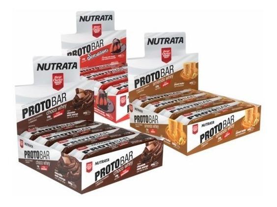 Proto Bar 8 Unidades - Barra De Proteína - Nutrata