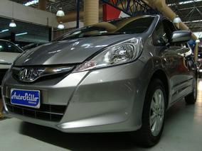 Honda Fit 1.4 Lx Flex 2013 Cinza (completo + Couro)