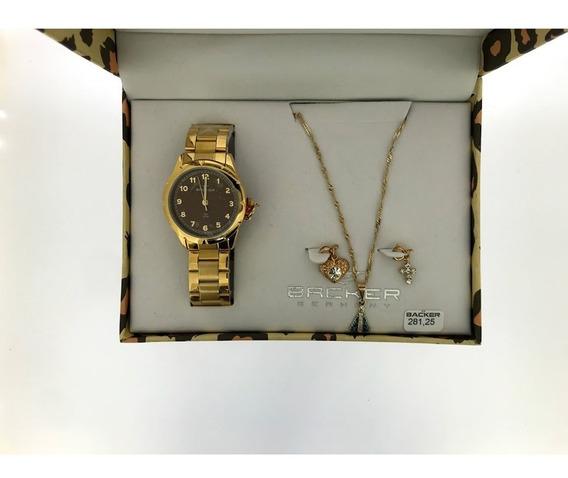 Relógio Backer - Kit Leopardo - 106210057 Mr