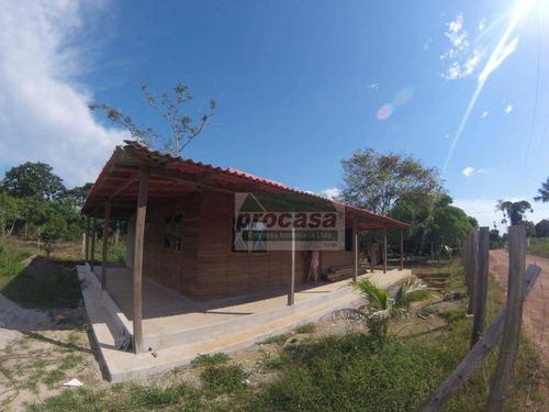 Chácara Com 2 Dormitórios À Venda, 1000 M² Por R$ 180.000 - Área Rural - Manaus/am - Ch0059