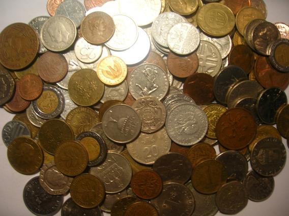 Interesante Lote De 100 Monedas Extranjeras Diferentes!