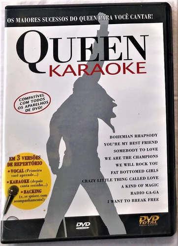 Dvd Video Karaoke Queen - C E Sem Vocal E Backing - Sucessos