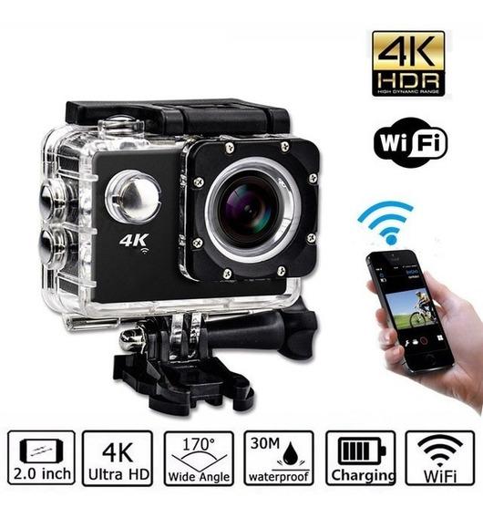Câmera Sub Aquática Ação Esporte 4k Ultra Hd + Cartão 32gb