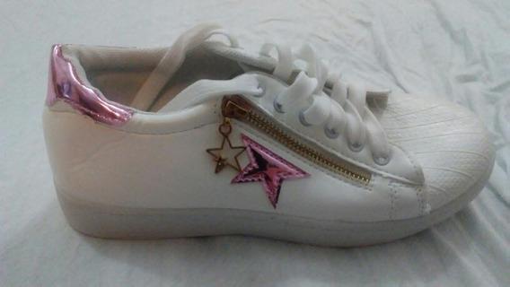 Zapatillas Blancas Nuevas De Dama Sport