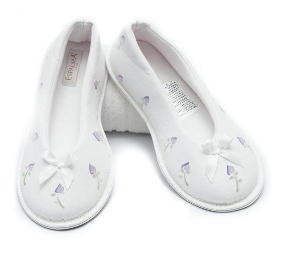 Pantufla Slipper Ballerina Espalma Spa Premium 100% Algodón