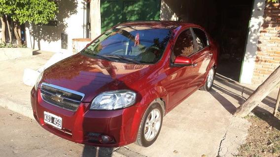 Chevrolet Aveo 1.6 Lt 2011 Rojo Nafta Y Gnc 1ra Mano