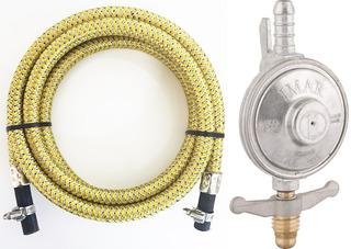 Mangueira Gas Aço Inox Glp 4,0 Mt Flexivel Botijao Regulador