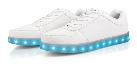 Zapatillas Con Luz Led Recargables Usb Luminosas Importadas