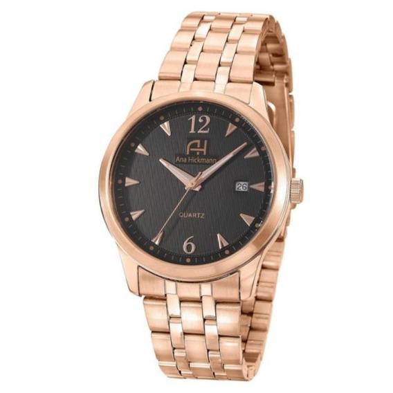 Relógio Feminino Ana Hickmann Analógico Ah29043p Rosê