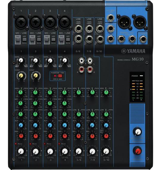 Mesa De Som Analógica 10 Canais Mg10 Preta Yamaha